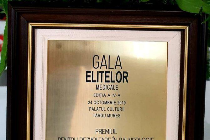 Recunoștere națională Premiul pentru dezvoltare în balneologie şi recuperare medicală la Gala Elitelor Medicale